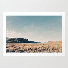 Arid Landscape Art Print