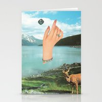 Stationery Cards featuring Emerald Forest by leafandpetal