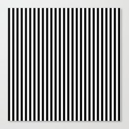 Stripes in Black and White Canvas Print
