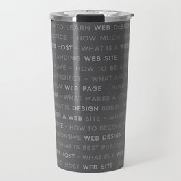 Grey Web Design Keywords Travel Mug