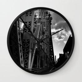 Bridge in Black & White Wall Clock