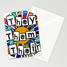 They Them Their Graffiti Sunrays Stationery Cards