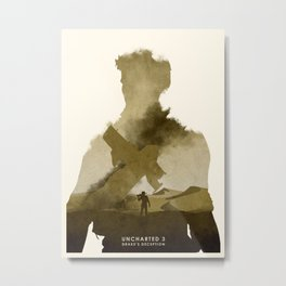 Uncharted 3 Metal Print