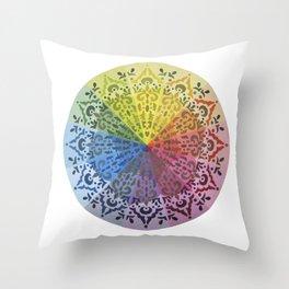 Ornamental Color Wheel Throw Pillow