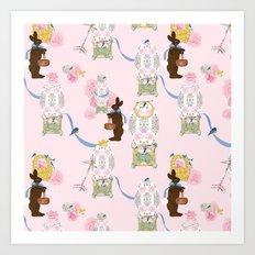 Easter Bunny Factory 12 x 12 Art Print