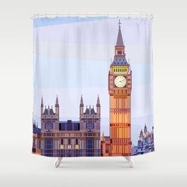 Geometric Big Ben, London, UK Shower Curtain