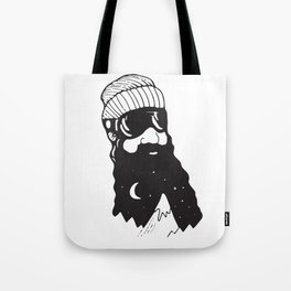 Snow Man Tote Bag