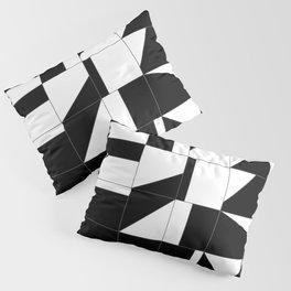 AGBW - Abstract, Geometric, Black & White Pillow Sham
