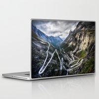 norway Laptop & iPad Skins featuring Trollstigen, Norway. by Ar Ling Landscape photography