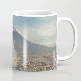 City of Arequipa in Peru with its iconic volcano Misti Coffee Mug