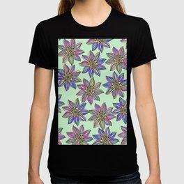Whimsical neo mint color pallet watercolor abstract mandala T-shirt