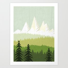 Forest-watercolor Art Print