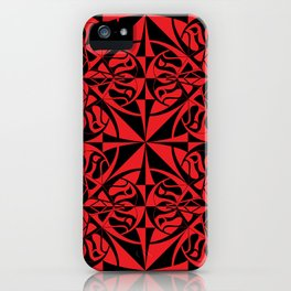 Think Tiled - Black Red iPhone Case
