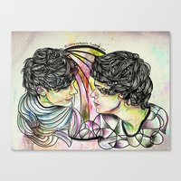 larry Canvas Prints featuring Larry by Peek At My Dreams