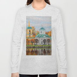 The Temple of the All-Merciful Saviour in the Park Kuskovo Long Sleeve T-shirt