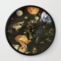 world maps Wall Clocks featuring MAPS by Ben Giles