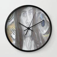 jared leto Wall Clocks featuring Jared Leto by Equalsnine-art