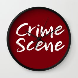 Crime Scene - Red Wall Clock
