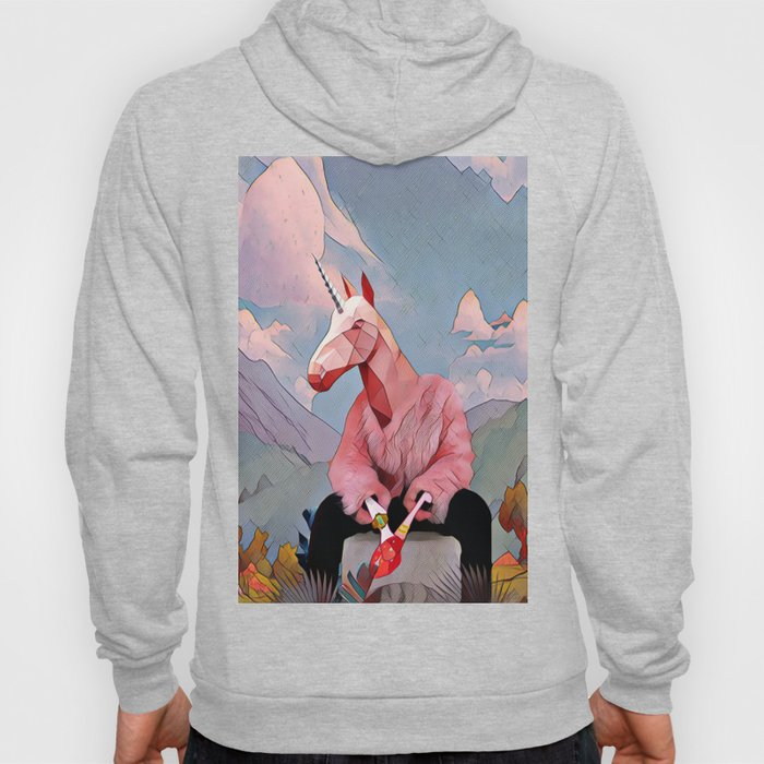 Unicorn with the fur coat Hoody