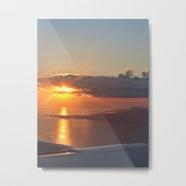 Sunset from a plane Metal Print