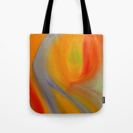 """Orange Blossom"" Original oil finger painting by Monika Toth Tote Bag"