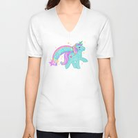 my little pony V-neck T-shirts featuring My Little Pony Unicorn by lolia