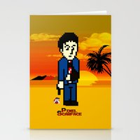 scarface Stationery Cards featuring Pixel Scarface by Rapsmyinitials