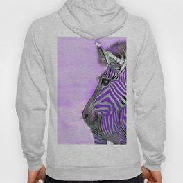 Zebra Purple and White Hoody