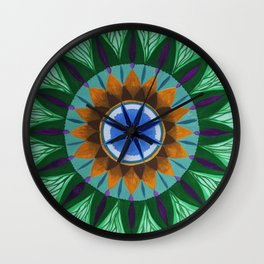 Peacock Mandala Wall Clock
