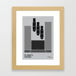 Off The Map   St Mary's Framed Art Print