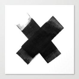 The Black X  Canvas Print
