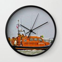 Hoylake Lifeboat (Digital Art) Wall Clock