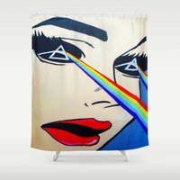 floyd Shower Curtains featuring Pink Floyd by Gabrielle Wall