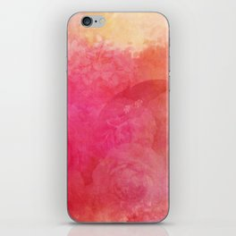 Pink Butterfly Vintage Roses Background Pattern iPhone Skin