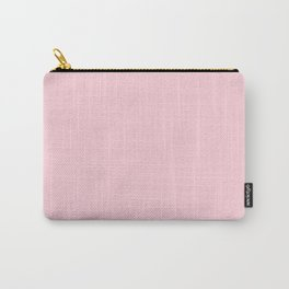 Light Soft Pastel Pink Solid Color Carry-All Pouch