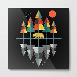 Geometrical Nature Metal Print
