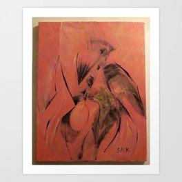 oil abstract  Art Print