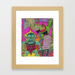 Trollz Ablaze Framed Art Print