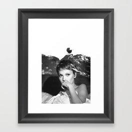 Mia Farrow Framed Art Print