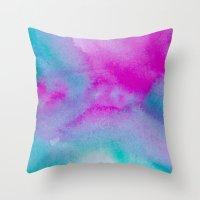 aurora Throw Pillows featuring Aurora by elena + stephann