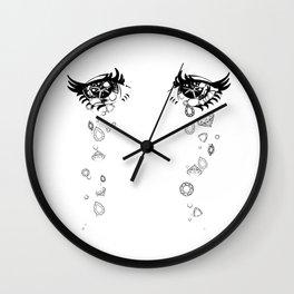 Crystal Tears Anime Eyes Wall Clock