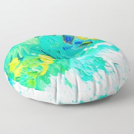 Turquoise Clouds Floor Pillow