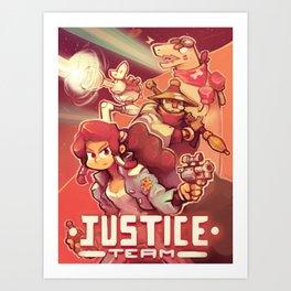 Justice team Art Print