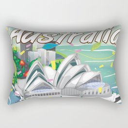 Australia vintage travel poster Rectangular Pillow