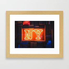Neon NY Framed Art Print