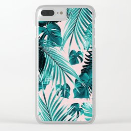 Tropical Jungle Leaves Dream #4 #tropical #decor #art #society6 Clear iPhone Case