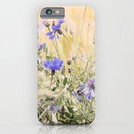 #Elegant #Beautiful #Wildflower #meadow #pattern iPhone Case