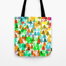 Colorful fir pattern Tote Bag