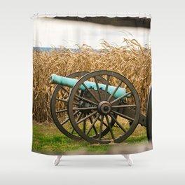 Cannon amongst the Corn Antietam National Battlefield Civil War Battleground Maryland Shower Curtain