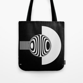 Experimentation with vector design on sphere glass reflection, 3D ambient. Version A. WB. Tote Bag